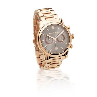 Michael Kors Landaulet Rose Gold Chronograph Watch