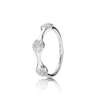 Pandora White Gold Three Lovepod Ring