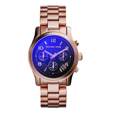 Michael Kors Runway Rose Gold Midnight Blue Watch