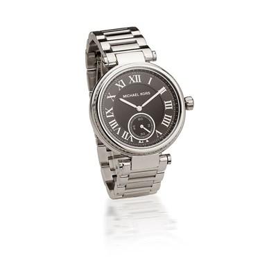 Michael Kors Skylar Black & Silver Watch