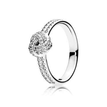 Pandora Sparkling Love Knot Ring  - Click to view larger image