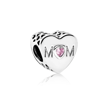 Pandora Mother Heart Charm  - Click to view larger image