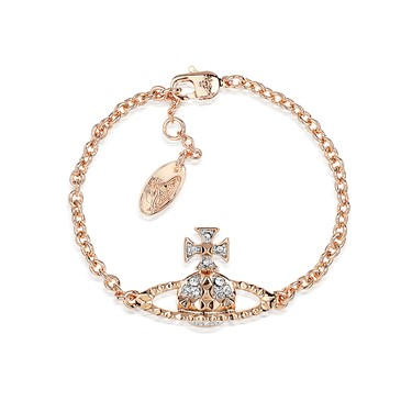 Vivienne Westwood Mayfair Bas Relief Pink Gold Bracelet  - Click to view larger image