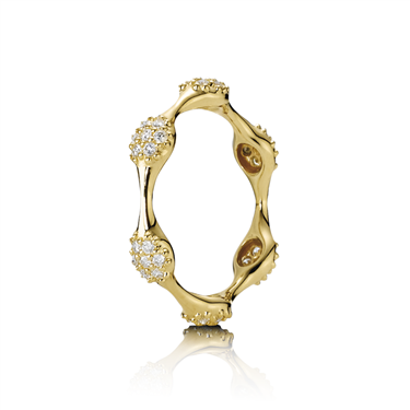 Pandora Gold Six Diamond Lovepod Ring