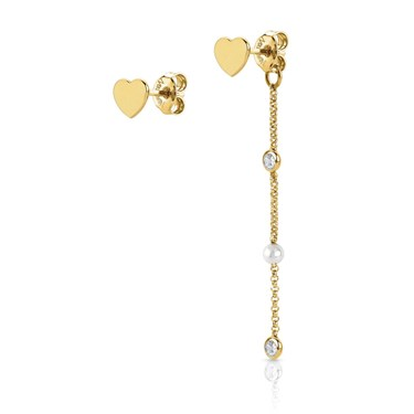 Nomination  Bella Gold Heart Earrings  - Click to view larger image