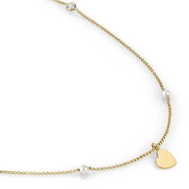 Nomination  Bella Long Gold Heart Necklace  - Click to view larger image
