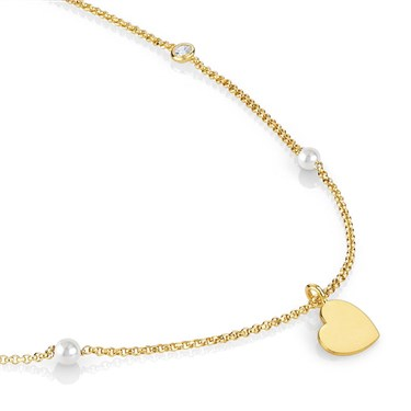 Nomination  Bella Gold Heart Necklace  - Click to view larger image