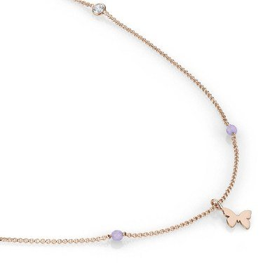 Nomination  Bella Long Rose Gold Butterfly Necklace  - Click to view larger image