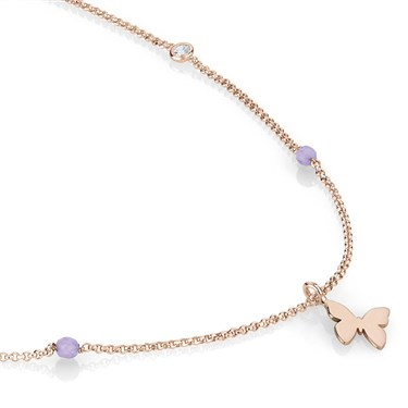 Nomination  Bella Rose Gold Butterfly Necklace