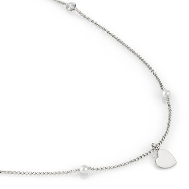 Nomination  Bella Long Silver Heart Necklace  - Click to view larger image
