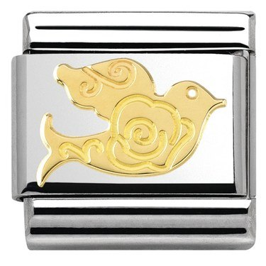 Nomination  Gold Dove Charm  - Click to view larger image