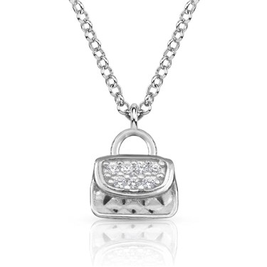Nomination  Gioie Silver Handbag CZ Necklace  - Click to view larger image