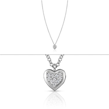 Nomination Gioie Crystal Heart Necklace  - Click to view larger image