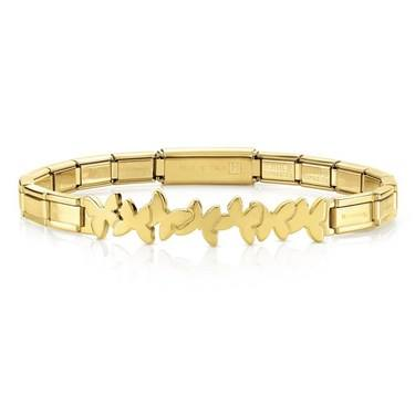 Nomination  Trendsetter Gold Butterfly Bracelet  - Click to view larger image