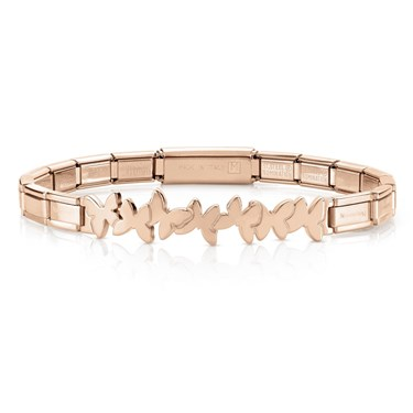 Nomination  Trendsetter Rose Gold Butterfly Bracelet  - Click to view larger image