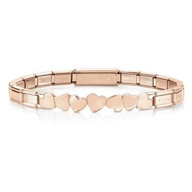 Nomination  Trendsetter Rose Gold Heart Bracelet