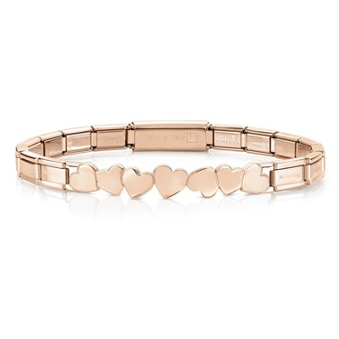 Nomination Trendsetter Rose Gold Heart Bracelet - Click to view larger image 69228669c92c