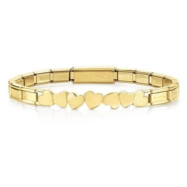 Nomination  Trendsetter Gold Heart Bracelet