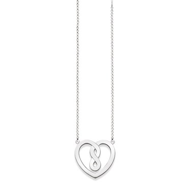 Thomas Sabo Silver Infinity Heart Necklace  - Click to view larger image