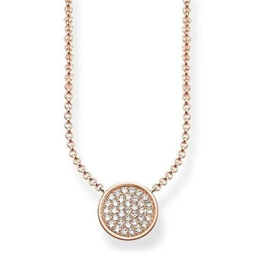 Thomas Sabo Rose Gold Sparkling Necklace  - Click to view larger image