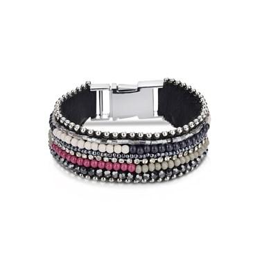 August Woods Black & Pink Opulence Bracelet
