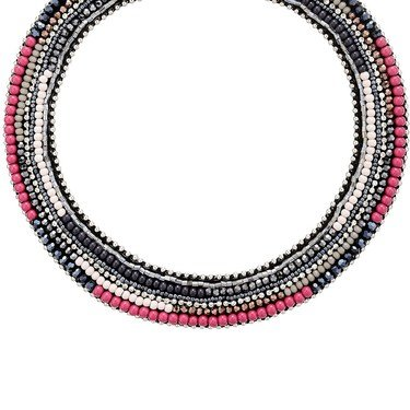 August Woods Black & Pink Opulence Necklace  - Click to view larger image