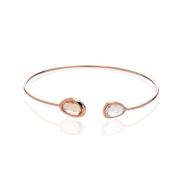 August Woods Champagne Glass Rose Gold Bangle