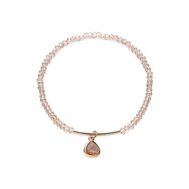 August Woods Champagne Glass Beaded Rose Gold Bracelet