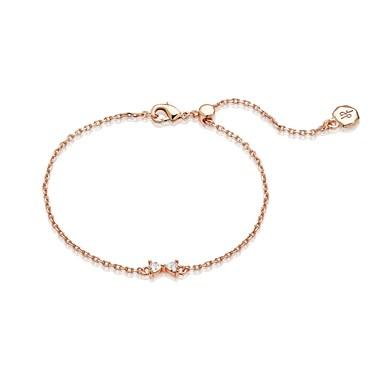 Dirty Ruby Rose Gold Dainty Bow Bracelet