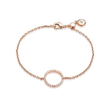 Dirty Ruby Rose Gold Open Circle Bracelet