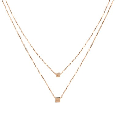 Dirty Ruby Rose Gold Layers of Love Necklace
