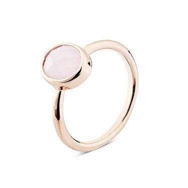 August Woods Blush Pink Glass Rose Gold Ring