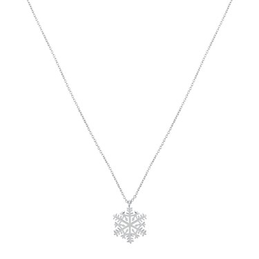 Dirty Ruby Snowflake Necklace