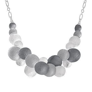 August Woods Midnight Metallics Silver Necklace
