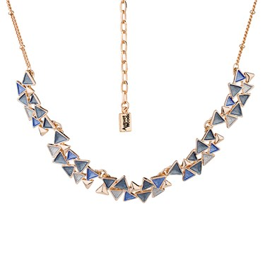 August Woods Midnight Metallics Rose Necklace
