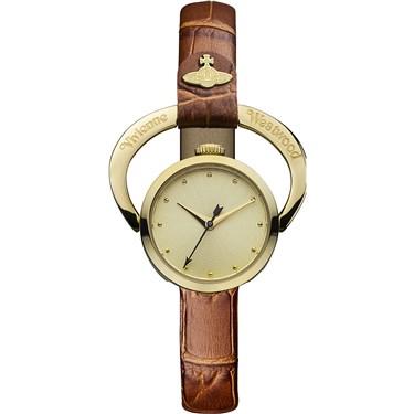 Vivienne Westwood Tan & Gold Horseshoe Watch