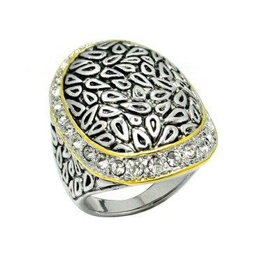 Karma Bi-Colour Oval Mosaic Ring