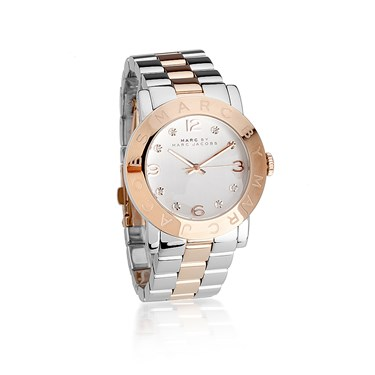 Marc by Marc Jacobs Amy Stainless Steel and Rose Gold Mix Watch  - Click to view larger image