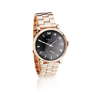 Marc by Marc Jacobs Baker Rose Gold Black Dial Watch  - Click to view larger image