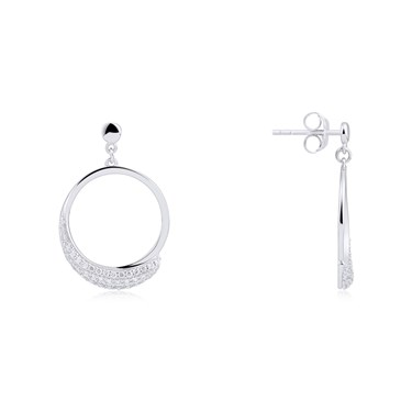 Argento Frozen Sentiments Open Circle Earrings  - Click to view larger image
