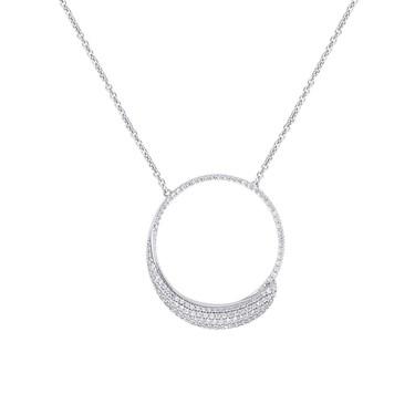 Argento Frozen Sentiments Large Open Circle Necklace