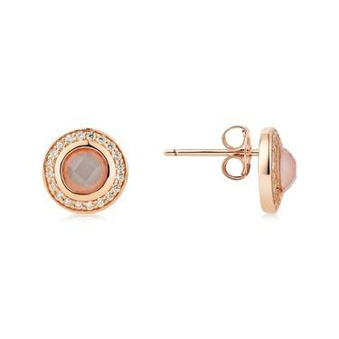 Argento Rose Gold Blush Pink Earrings  - Click to view larger image