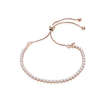 Argento Rose Gold Crystal Pull Friendship Bracelet