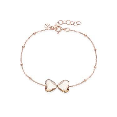 Argento Rose Gold Glass Bow Bracelet