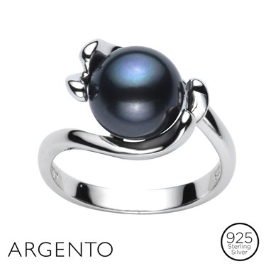 Argento Pearl Curve Ring