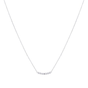 Argento Silver Ball Crystal Necklace