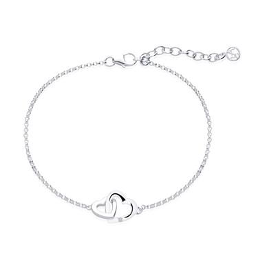 Argento Silver Interlocking Hearts Bracelet