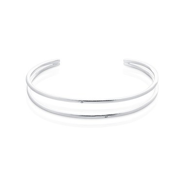 Argento Silver Open Torque Bangle  - Click to view larger image