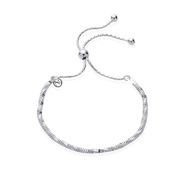 Argento Silver Twist Pull Friendship Bracelet