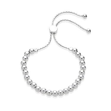 Argento Silver Ball Pull Friendship Bracelet